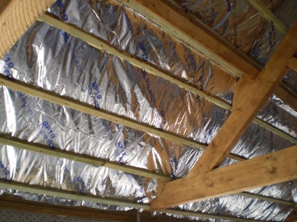 Sf19 foil insulation roof install