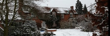 Loft-insulation-snow-covered-roof