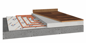 SFUF insulation under floor install diagram