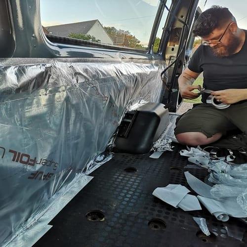 Adding Insulation to Campervan