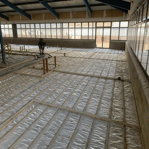 Office Block Floor Foil Insulation