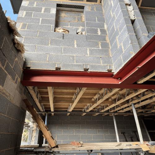 First Floor Balcony Wooden Beams