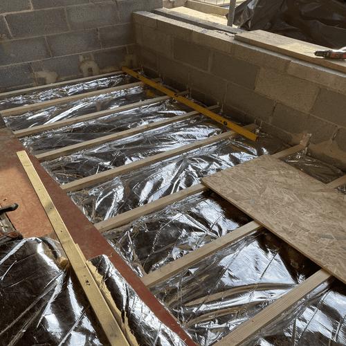 First Floor Balcony Floor Insulation