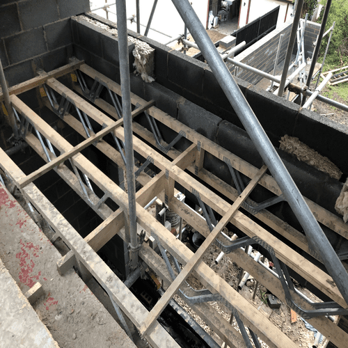 First Floor Balcony Framework