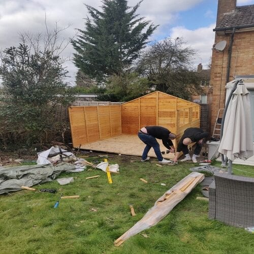 Building New Wooden Shed