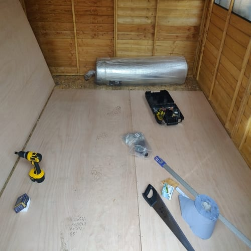Flooring in Outdoor Wooden Shed