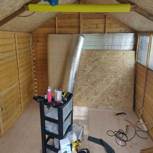 Insulation for Outdoor Wooden Shed