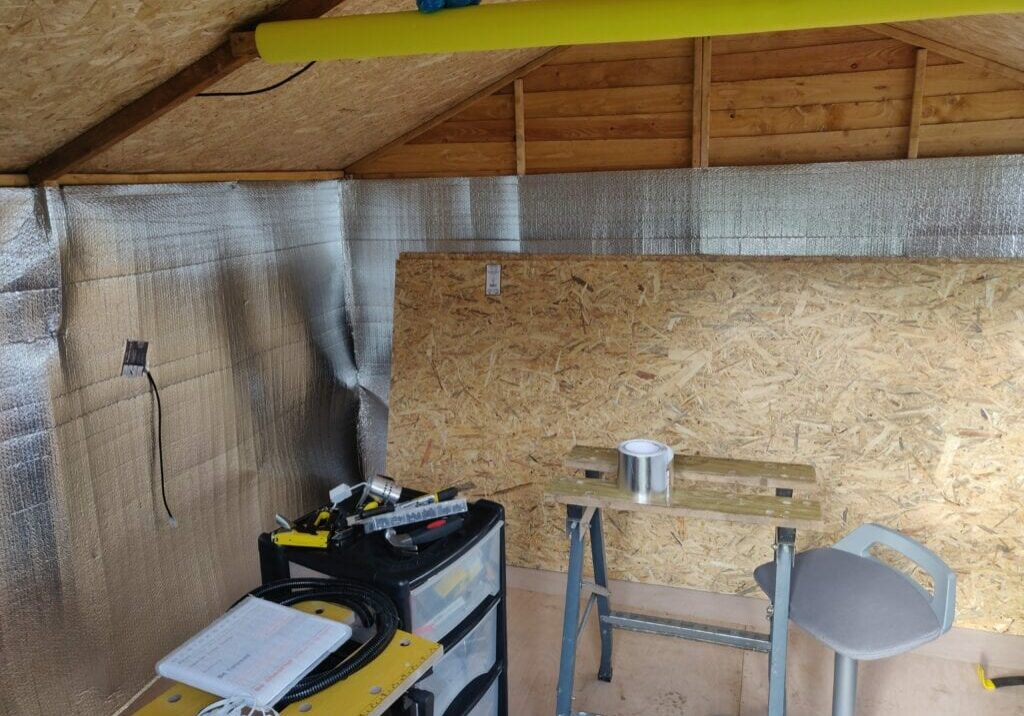 Insulation for Outdoor Shed